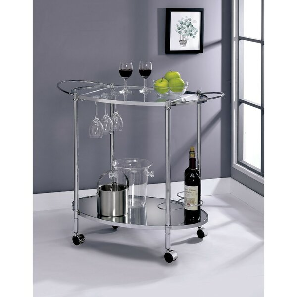 Boose 2 Shelf Metal Bar Cart by Orren Ellis