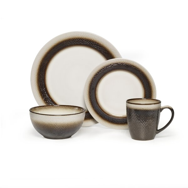 Eclipse Stoneware 16 Piece Dinnerware Set, Service for 4 by Pfaltzgraff