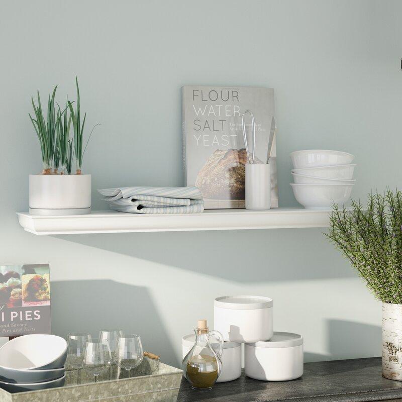 Sarratt Floating Wall Shelf & Alcott Hill Sarratt Floating Wall Shelf \u0026 Reviews | Wayfair