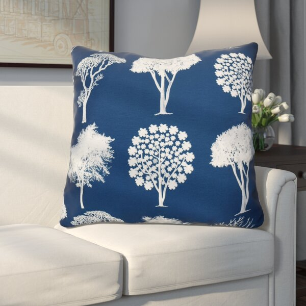 Miller Field of Trees Floral Euro Pillow by Alcott Hill