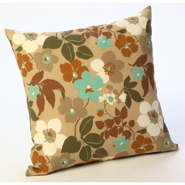Floral Outdoor Throw Pillow by HRH Designs