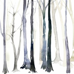 'In The Forest II' Painting Print on Canvas by East Urban Home