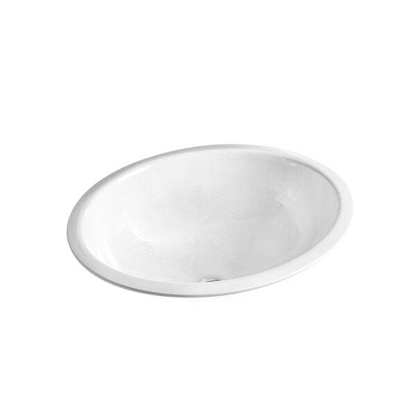 Sartorial Vitreous China Oval Undermount Bathroom Sink by Kohler