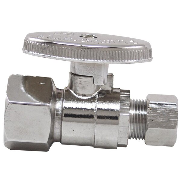0.5 x 0.375 Low Lead Quick Shut Off Straight Valve by Plumb Craft