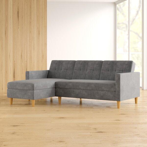 Modern Style Hephzibah Reversible Sleeper Sectional Hot Bargains! 30% Off