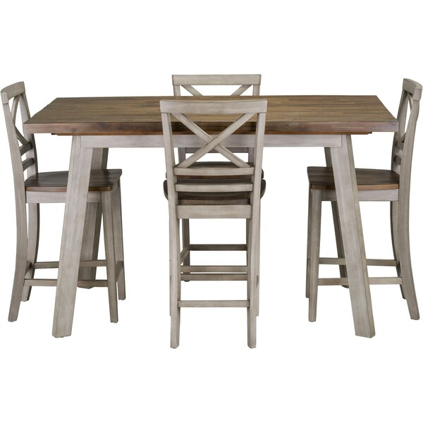 Crum 5 Piece Counter Height Dining Set by August Grove