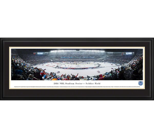 NHL 2014 Stadium Series - Penguins by Christopher Gjevre Framed Photographic Print by Blakeway Worldwide Panoramas, Inc