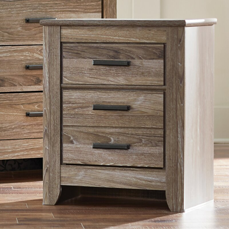 Trent austin design orange 2 drawer nightstand reviews for Tall rustic nightstands
