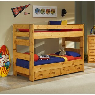 Read Reviews Alerburry Twin Over Twin Bunk Bed with Trundle By Harriet Bee
