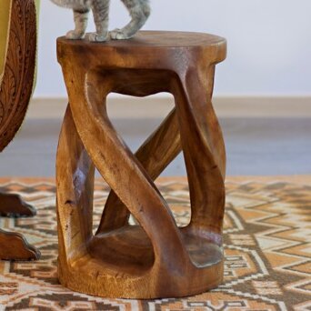 Santa Fe Springs Circular Twist End Table by Loon Peak