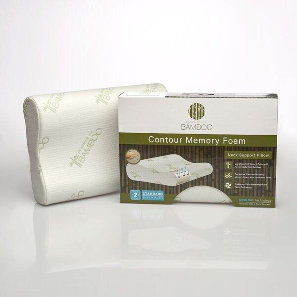 pegasus home fashions essence of bamboo memory foam contour pillow wayfair