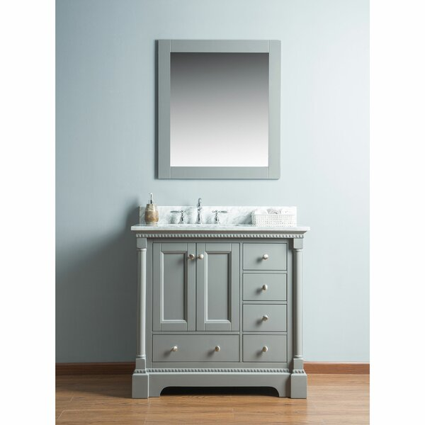 Rayleigh 36 Single Bathroom Vanity Set with Mirror by Charlton Home