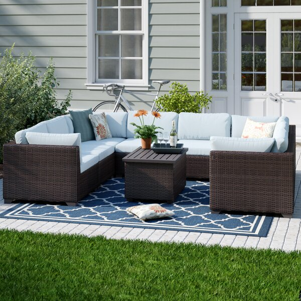 Fernando 9 Piece Sofa Seating Group with Cushions by Sol 72 Outdoor