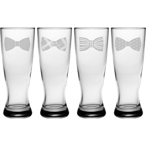 Bow Tie 20 oz. Glass Pint Glass (Set of 4) by Susquehanna Glass