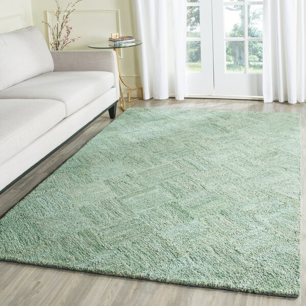Millia Hand-Tufted Green Area Rug by Bay Isle Home