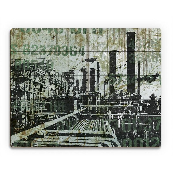 Pipe Town Graphic Art on Plaque by Click Wall Art