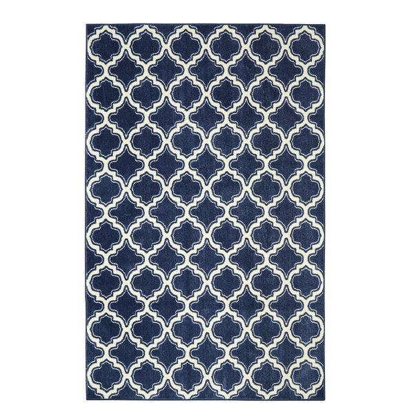 Latimer Calabasas Uno Blue Area Rug by Alcott Hill