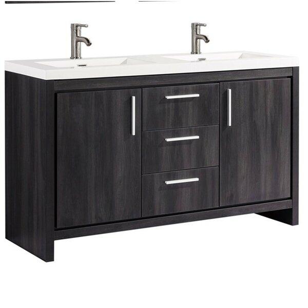 Peiffer Modern 59 Double Bathroom Vanity Set by Orren Ellis
