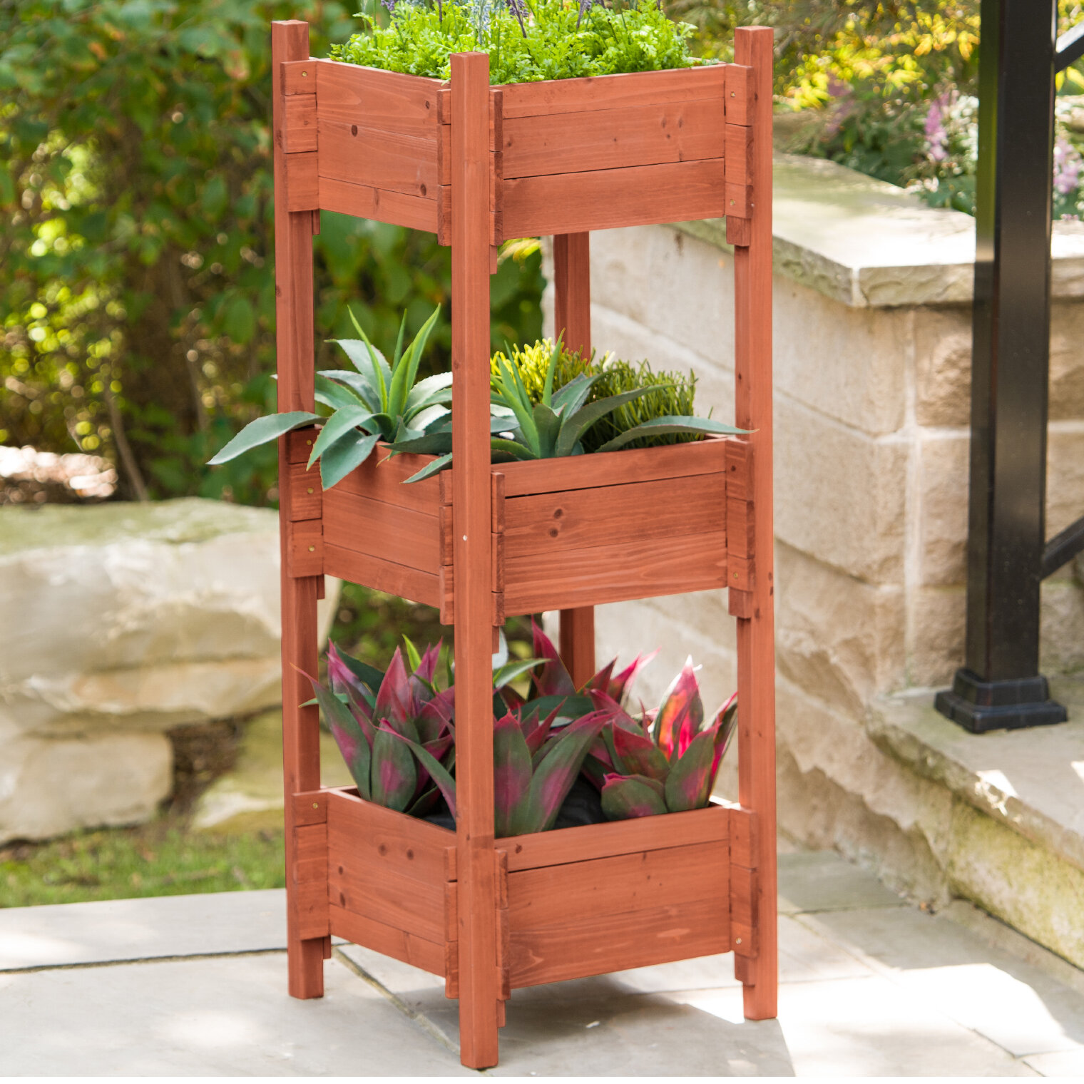 Leisure Season Wood Vertical Garden Wayfair
