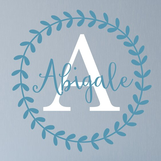 Abigail Leaf Vine Personalized Name Wall Decal by Alphabet Garden Designs