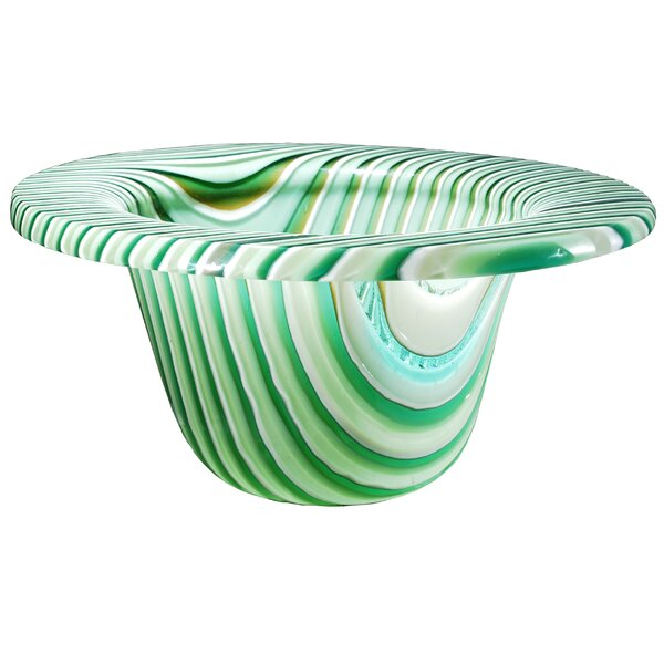 Metro Fusion Peppermint Glass Bowl