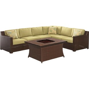 Abraham 5 Piece Sectional Seating Group with Cushions By Brayden Studio