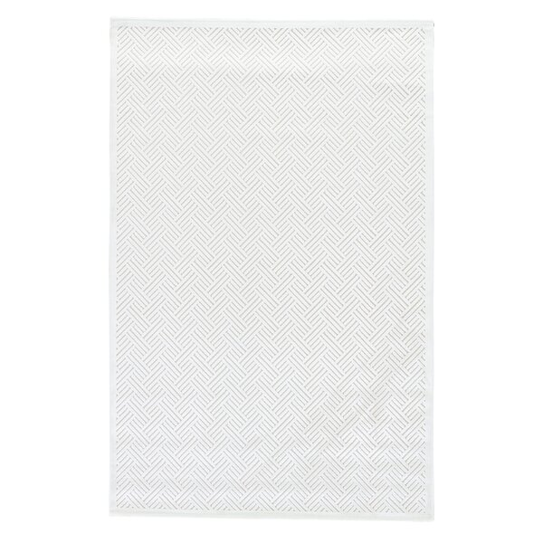 Ada Tufted Bright White/ White Sand Area Rug by Charlton Home