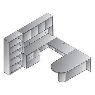Reviews Jusino 8-Piece U-Shape Desk Office Suite By Latitude Run