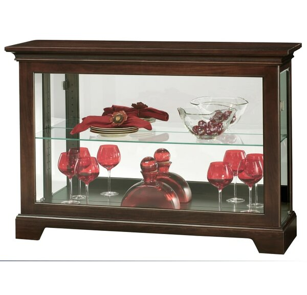 Carnelian Lighted Curio Cabinet by Alcott Hill