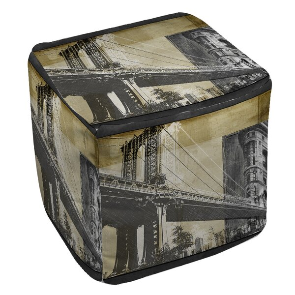 Metropolitan Collage 2 Pouf by Manual Woodworkers & Weavers