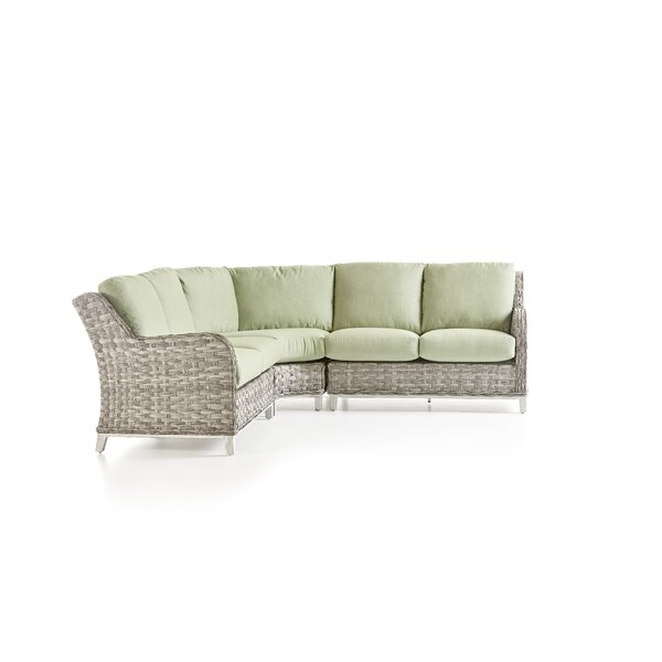 Vermehr Patio Sectional With Cushions by Rosecliff Heights