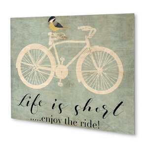 'Enjoy the Ride' Graphic Art on Plaque by KAVKA DESIGNS