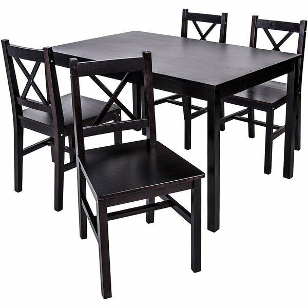 Merax 5 Piece Solid Wood Dining Set & Reviews | Wayfair