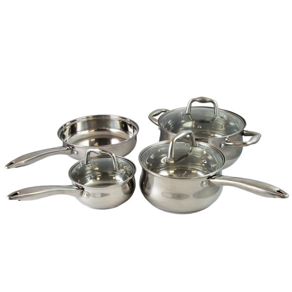 Branson 7 Piece Stainless Steel Cookware Set by Sunbeam