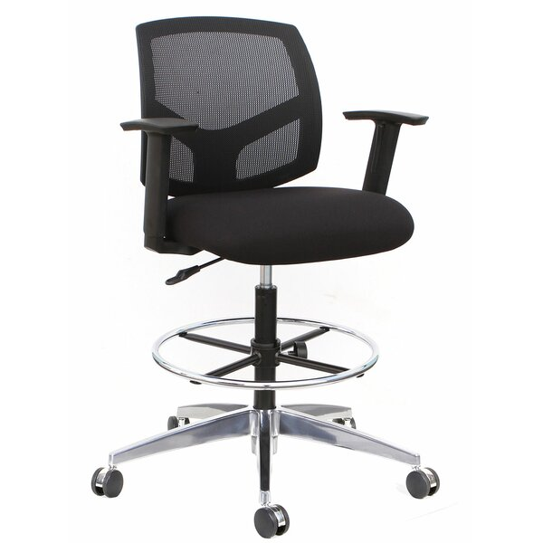 Forge Mid-Back Mesh Drafting Chair by Thornton's Office Supplies