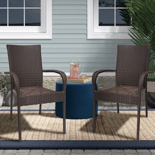 Fabrice Stacking Patio Dining Chair (Set Of 2) By Charlton Home by Charlton Home Best