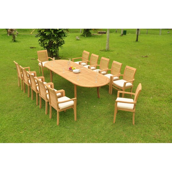 Homewood 13 Piece Teak Dining Set By Rosecliff Heights