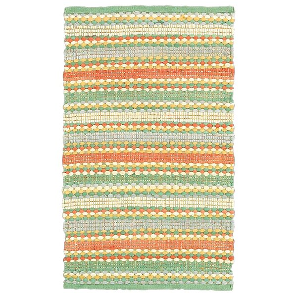 Dhurry Orange & Blue Area Rug by LR Resources