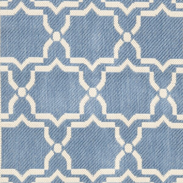 Short Intricate Blue/Beige Indoor/Outdoor Area Rug by Winston Porter