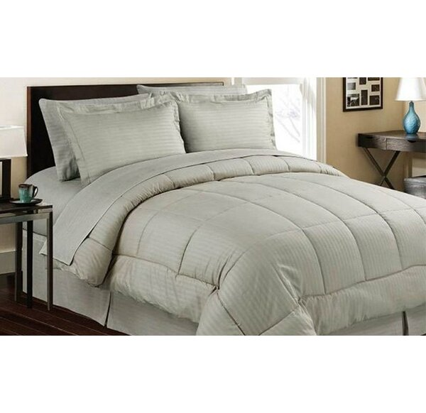 Azariah Hotel Style 8 Piece Down Alternative Bed In A Bag By Winston Porter.