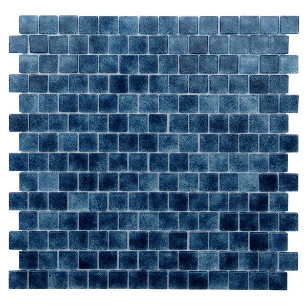 Quartz .075 x 0.75 Glass Mosaic Tile in Dark Blue by Kellani