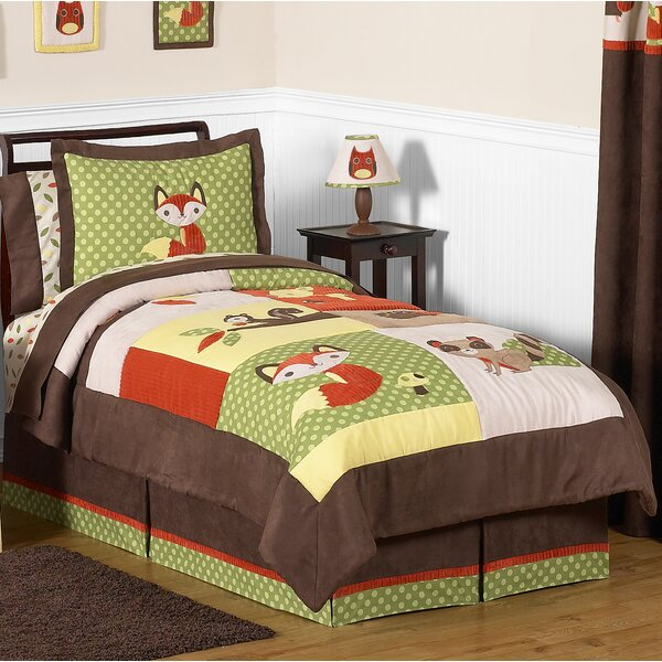 Forest Friends 4 Piece Twin Comforter Set by Sweet Jojo Designs