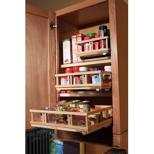 Upper Cabinet Spice Rack Caddy Medium Pull Out Drawer