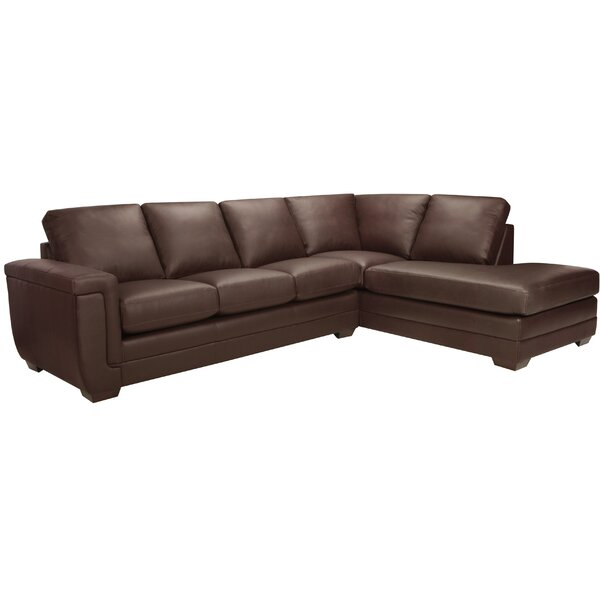Gile Right Hand Facing Italian Leather Sectional By Latitude Run