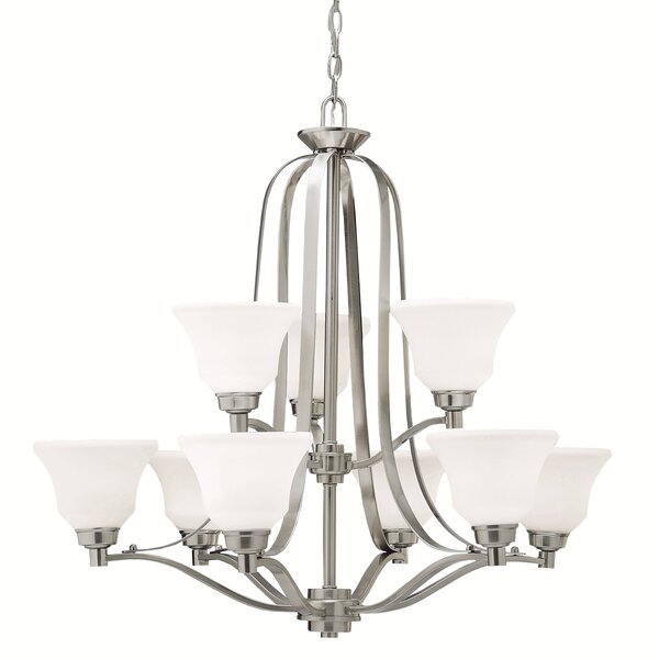 Avilla 9-Light Shaded Tiered Chandelier by Alcott Hill Alcott Hill