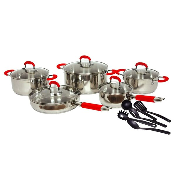 Gourmet Chef Classic 2 Stainless Steel 15 Piece Cookware Set by Gourmet Chef