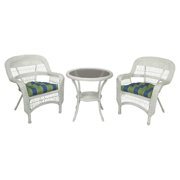 Ray 3 Piece Bistro Set with Cushions by Alcott Hill