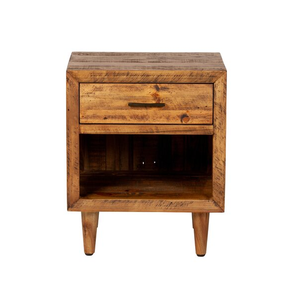 Sherer 1 Drawer Nightstand by Union Rustic