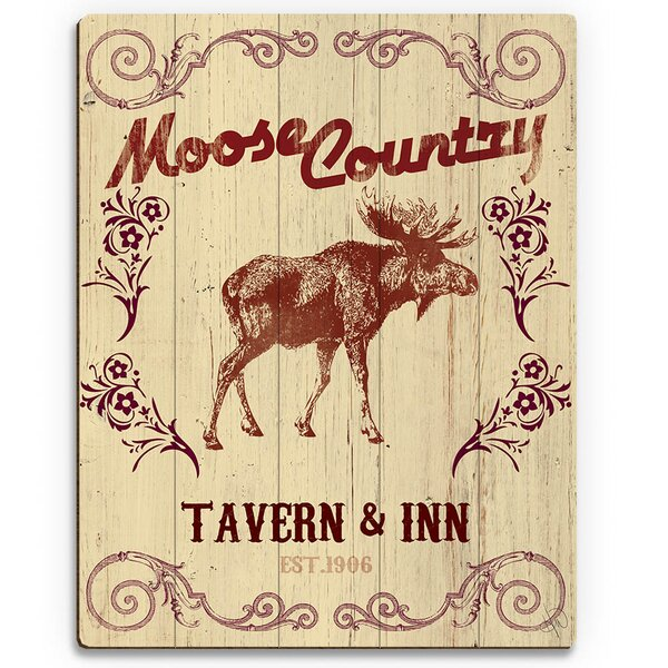 Moose Country Tavern & Inn Graphic Art on Plaque by Click Wall Art