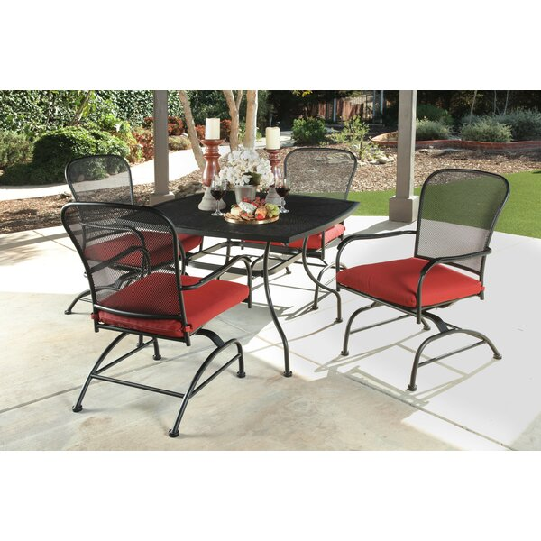 Beckford Rocking Mesh 5 Piece Dining Set with Cushions by Canora Grey
